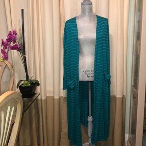 BNWT LULAROE Long Emerald Green Duster/ Cardigan